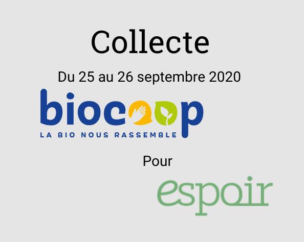 Collecte à Biocoop de Cenon